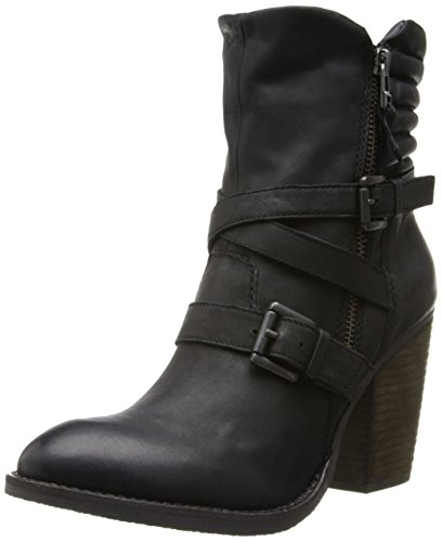 Steve Madden Women's Raleighh Motorcycle Boot,Black,8 M US