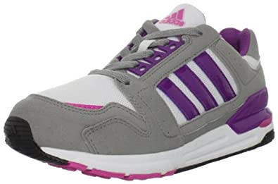 adidas Street Run 6 Running Shoe (Little Kid/Big Kid),Running White/Power Violet/Shift Grey,3 M US Little Kid