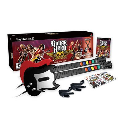 Guitar Hero Aerosmith Wired Bundle for PS2 (Guitar Hero Ps2 Wired Guitar compare prices)