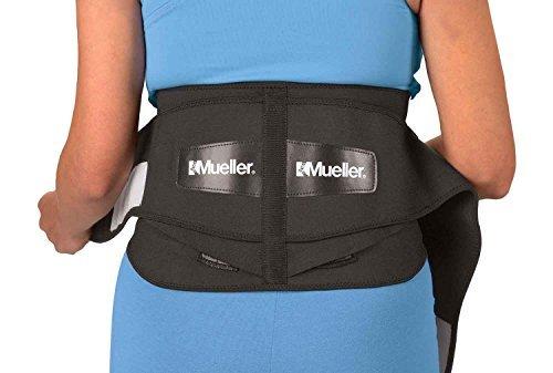 Mueller Adjustable Lumbar Back Brace, Black, Regular, 1-Count Package (Medical Belt compare prices)