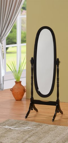 Cheval floor mirror black