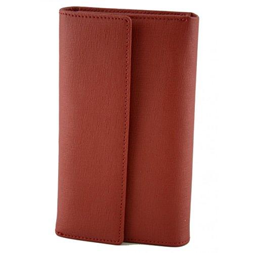 Portafoglio Donna In Pelle Saffiano Colore Rosso - Pelletteria Toscana Made In Italy - Accessori