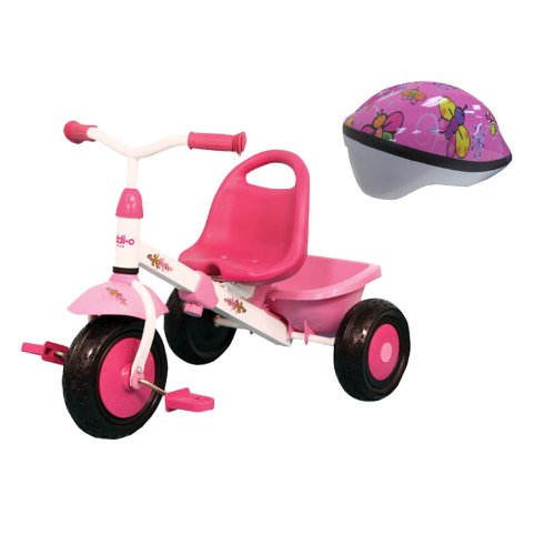 Kettler Kiddi-O Layana Trike with Kent Pink Butterfly Toddler Helmet