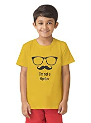 Mintees 100% Combed Cotton Boy's Graphic Print Golden Yellow Colour Tshirt MBRNT-02-042_2-3Yrs