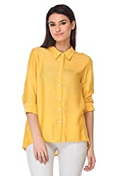 KAARYAH - Ochre 3/4th Sleeves Relaxed Fit Top