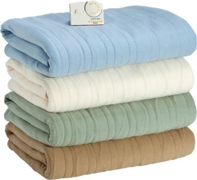 Blue Comfort Fleece Electric Blanket By The Vermont Country Store
