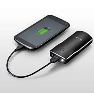 New Trent iTorch IMP52D 5200mAh External Battery Charger for The NEW iPad the 3rd Gen ipad, iPad2, iPhone 5 4S 4 3Gs 3G, iPod Touch (1G to 5G), Android (Samsung Galaxy Note S S2 S3, HTC Sensation EVO Thunderbolt, LG Optimus V), Blackberry (Bold curve Torch), Droid(Motorola Razr), Plus Major Tablet PCs with 5V input (Samsung, Blackberry, HTC) with LED flash light and laser pointer (Improved version: 15% smaller and at 5200mAh capacity compared to IMP500)