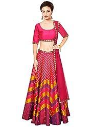 Rozdeal Designer Pink Color leriya Style Navratri Collection Lehnega Choli