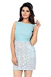 Ishin Modal Aqua Blue shift dress