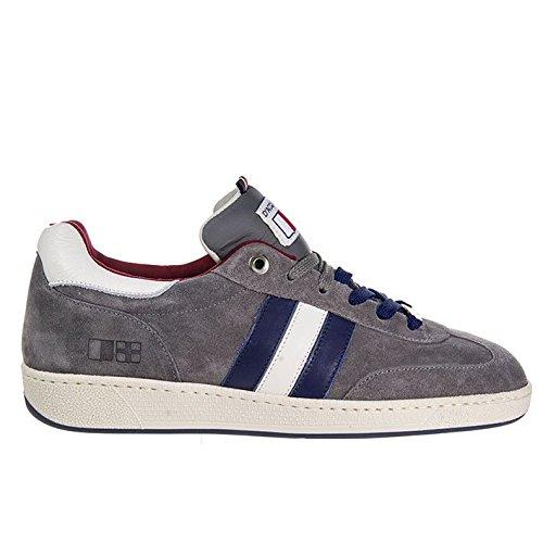 D'Acquasparta Sneaker Uomo Fatta a Mano in Italia Ghiberti Suede Grey_44