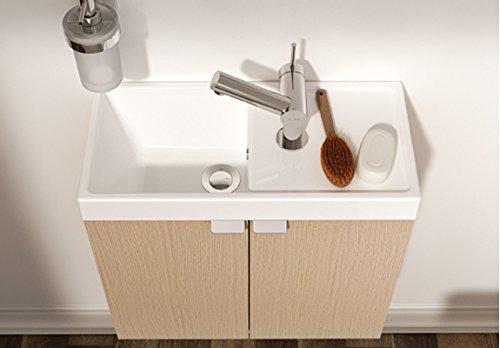 Bath +–Mobile 2Ante 50x 24x 45cm immagine bianco opaco
