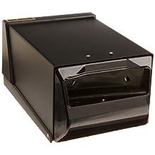 "San Jamar H3001 Countertop Fullfold Napkin Dispenser, 300 Capacity, 7-5/8"" Width x 5-1/2"" Height x 11"" Depth, Black Pearl/Black"