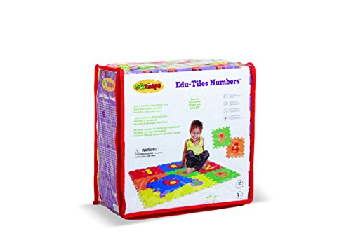 Edushape Edu Tiles - Numbers, 10 Piece Set