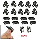 "20 Pcs Black Bicycle Bike Chain Master Connecting Link 0.5"" Pitch"