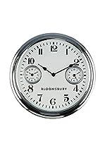 Premier Interiors Reloj De Pared Silver