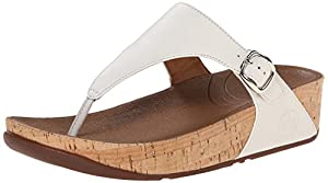 FitFlop The Skinny Cork Womens Sandals Urban White 3.0