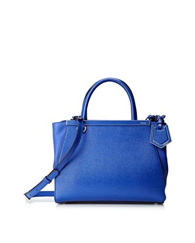 Fendi Women's Mini 2Jour Handbag, Blue Neon