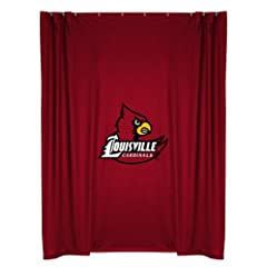 Louisville Cardinals COMBO Shower Curtain, 4 Pc Towel Set & 1 Window Valance... by Sports Coverage