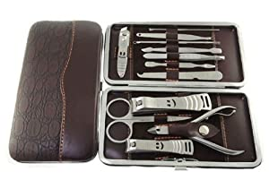 Vanskap 12 Piece Nail Care Personal Manicure & Pedicure Set, Travel & Grooming Kit