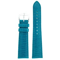 Watchband Genuine Lizard Aqua 16mm