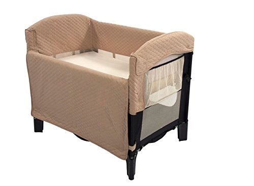 Arm's Reach Concepts Ideal Co-Sleeper Solid without Skirt, Black/Toffee - 1