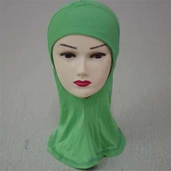 Cotton Head Neck Chest Cover Wear Band Bonnet Hijab Islamic Turban