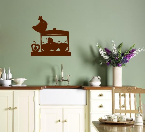 Wall Vinyl Sticker Decal Art Design Cook Birds Cafe Kitchen Room Nice Picture Decor Hall Wall Chu488