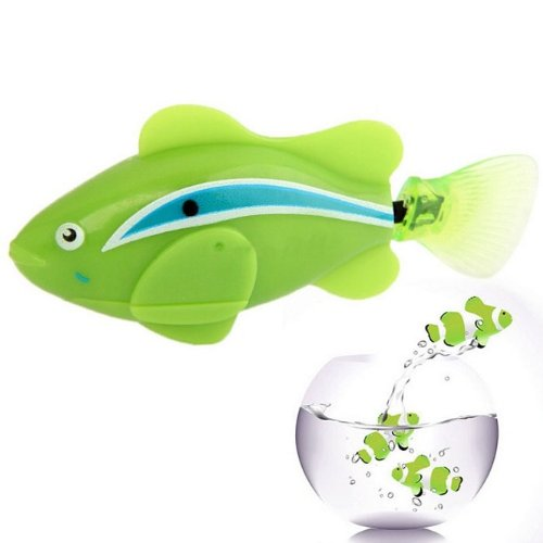Mokingtop® Hot Sale Newest Laughing Robo Fish / Electric Pet Fish Toy Gifts for Kids Children Green - 1