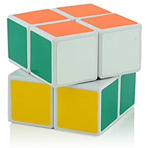 D-FantiX Shengshou Speed Cube 2x2x2 3x3x3 4x4x4 5x5x5 Magic Cube Puzzle White Set of 4
