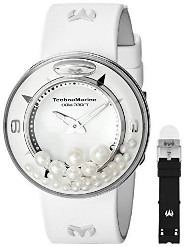 TechnoMarine Unisex 813003 AquaSphere Diamond and Pearl Watch with Two Interchangeable Bands