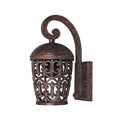 Designers Fountain 97591-BU Amherst-DS Wall Lanterns, Burnt Umber