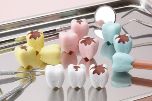 Iwako Pencil Top Erasers /Teeth - Cavity 12pcs. (4 colors)