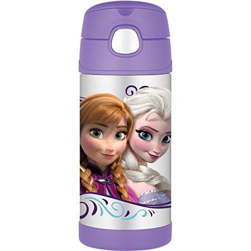 ディズニー アナと雪の女王 サーモス 真空断熱 ストロー 水筒 Disney FROZEN Thermos Funtainer Bottle  355ml【並行輸入品】