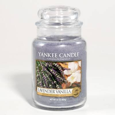 Yankee Candle 22-Ounce Jar Scented Candle, Large, Lavender Vanilla