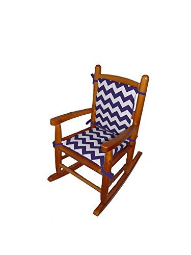 Baby Doll Chevron Junior Rocking Chair Pad, Plum