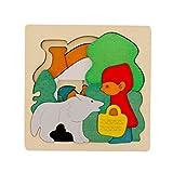 Juguetes Juegos Educativos Rompecabezas M�ltiples Capas Dibujos Animados Madera Caperucita Roja Ni�o