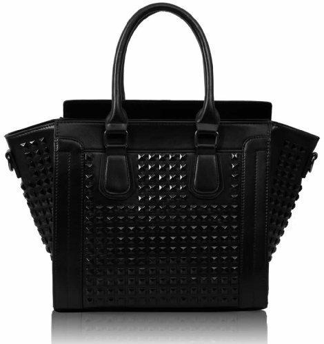 Black Studded Over The Shoulder Bag 7