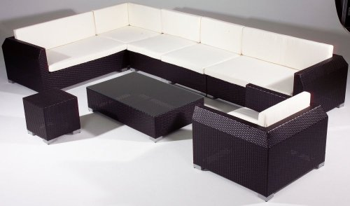 8Pc Modern Outdoor& Indoor Wicker Rattan Patio Furniture Sofa Sectional Couch Set