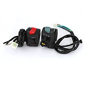 "Motorcycle 7/8"" Hole Dia Handlebar Horn Turn Signal Switch for Honda"