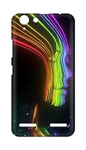 Amez designer printed 3d premium high quality back case cover forLenovo K5 Plus (girl rainbow colourful )