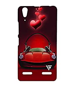 Vogueshell Sports Car Printed Symmetry PRO Series Hard Back Case for Lenovo A6000