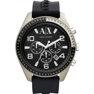 Armani Exchange AX1253 Mens Chronograph Silicone Strap Watch
