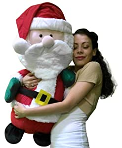 .com: Giant Stuffed Santa Claus - Extra Large 32 Inches Big and Plump