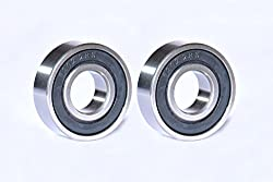 Best Quality Ball Bearing for Industrial, Automobile & General Purpose. (Pack of TWO Bearings) Model :- 6202-2RS, SIZE : ID-15mm/OD-35mm/THICK-11mm. MAA-KU