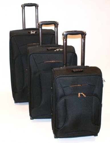 Nobel Koffer Trolley-Set von Royal, schwarz/antrazid