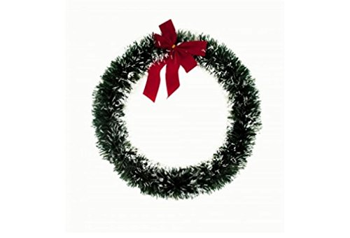 Artificial Christmas Wreaths And Holiday Decorations. Simple Wreath With Red Velvet Bow And Self Adhesive Hook For Door and Window Decor Bundle