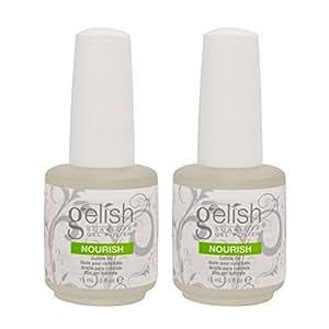 2 Harmony Gelish Nourish Nail Cuticle Hydrating Natural Oil Treatment .5 Bottles
