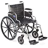 "Invacare LightWeight Tracer EX2 Wheelchair 18"" with Swingaway Footrest-Blue (Folding, Assembled)"