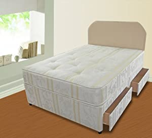 Divan Bed Luxury 4ft Small Double Size Including Mattress And 4 Drawer Storage       review and more information