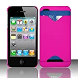 Platinum Pink - Card Holder Protector Case for Apple iPhone 4 / 4S [AT&T, Verizon Wireless]